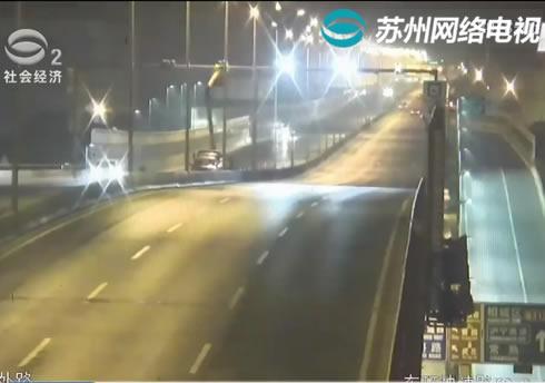高压钠灯换LED 东环高架启动道路照明改造